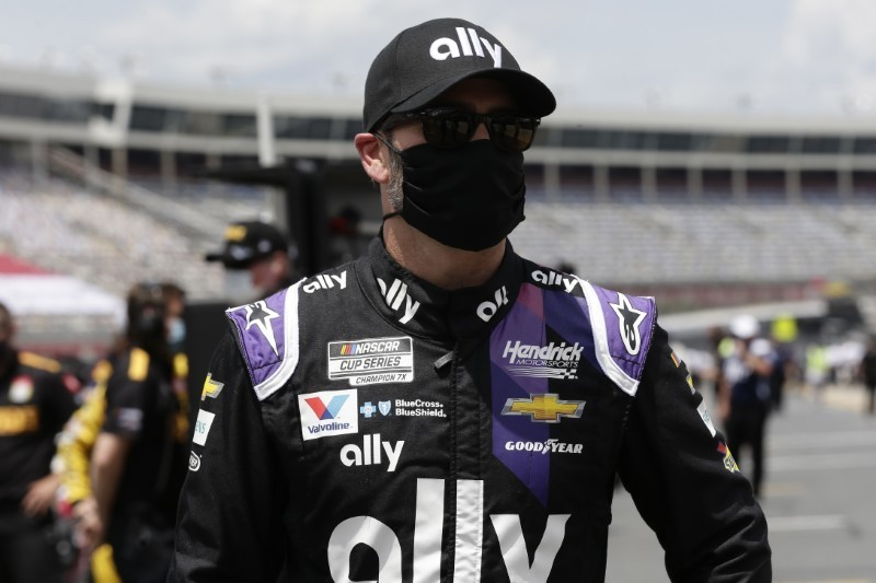 Johnson falls to last at Coca-Cola 600 after car fails inspection
