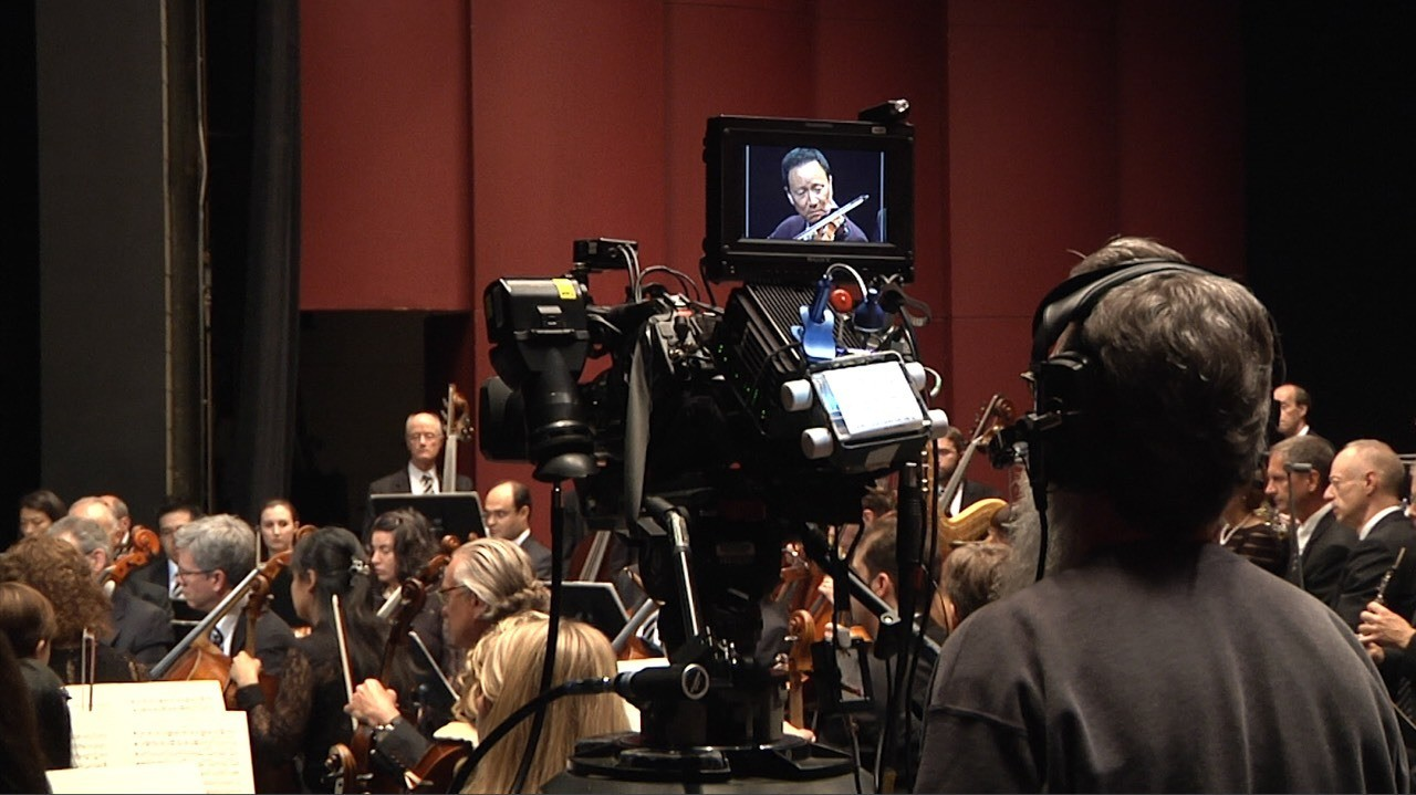 View from behind one of the many HD cameras that captured the ensemble during filming days of season 2.