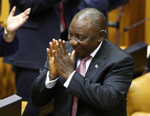 South African lawmakers elect Ramaphosa as state president