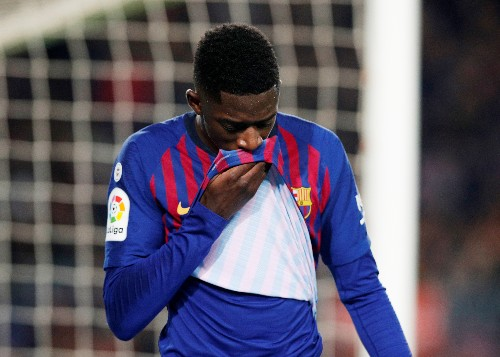 Soccer: Barca's Dembele sidelined for two weeks with injury