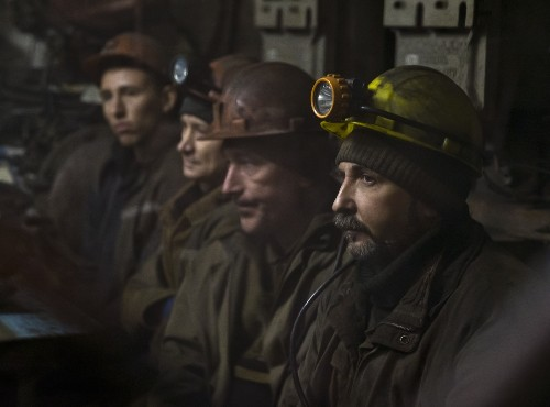 Explosion Rocks Ukraine Mine: Pictures