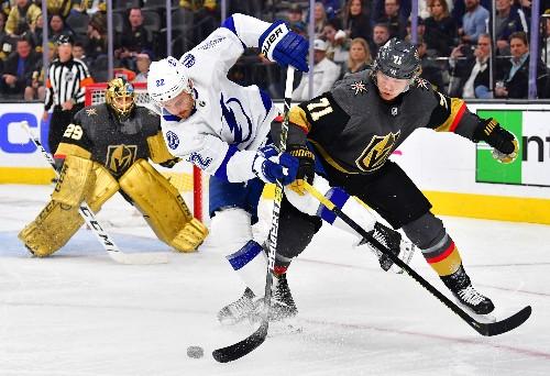 Knights halt Lightning win streak