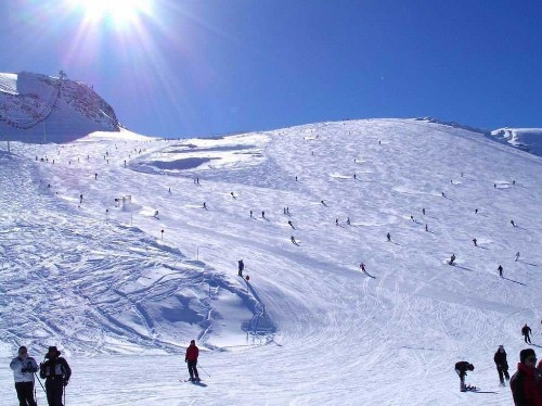 You can ski and snowboard 365 days a year at this Austrian glacier