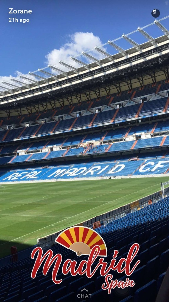 Real Madrids soccer field