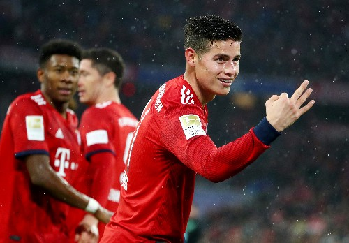 Soccer: Rodriguez treble helps Bayern retain top spot with Mainz rout