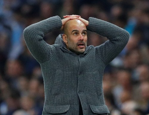Soccer: Guardiola expects Man City reaction against Spurs after painful European exit