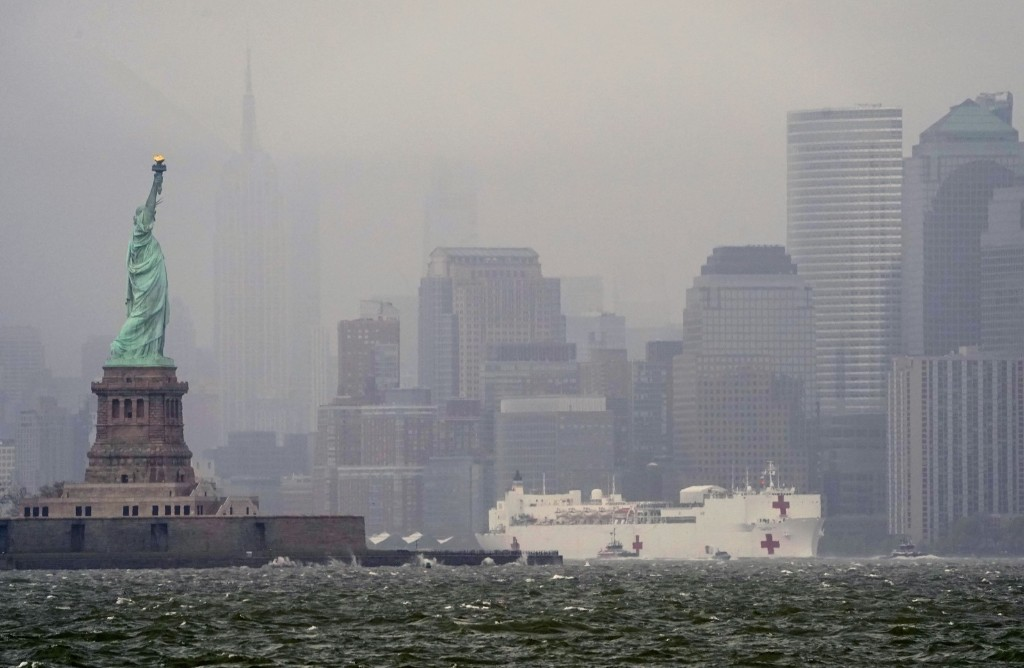 USNS Comfort Departs New York: Pictures