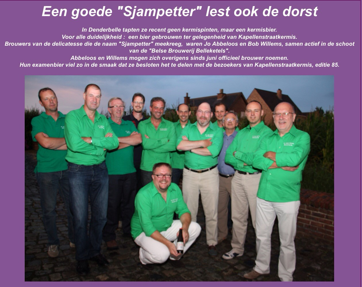 Aug 2010 De Belleketels brouwen het kermisbier Sjampetter voor de kermis in Denderbelle.