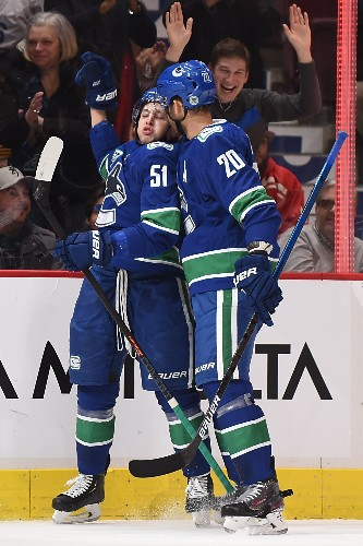 Canucks cap unbeaten homestand with win over Wings