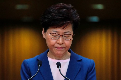 Hong Kong leader says extradition bill is dead, but critics unconvinced