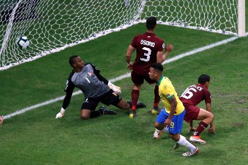 Soccer:'Viva el VAR,' sing Venezuela after draw with Brazil