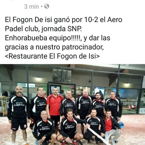 El Fogón de Isi padel club - Magazine cover