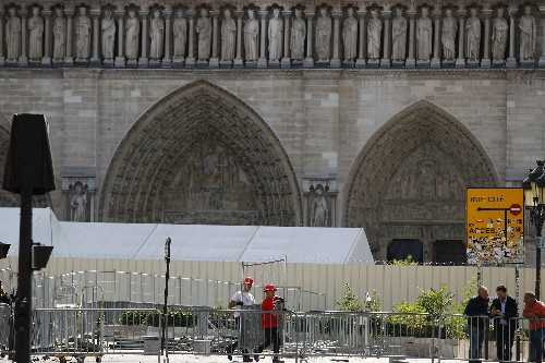 Stones fell from Notre Dame's ceiling after July heat wave