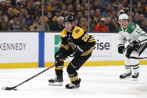 Bruins fend off Stars, snap two-game skid