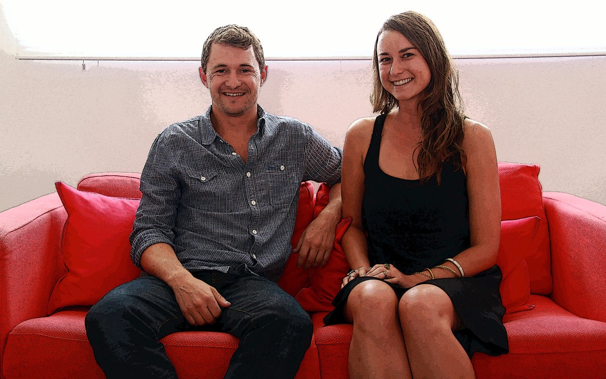 On the Red Couch with Global Explorers Justin Lewis and Michelle Stauffer