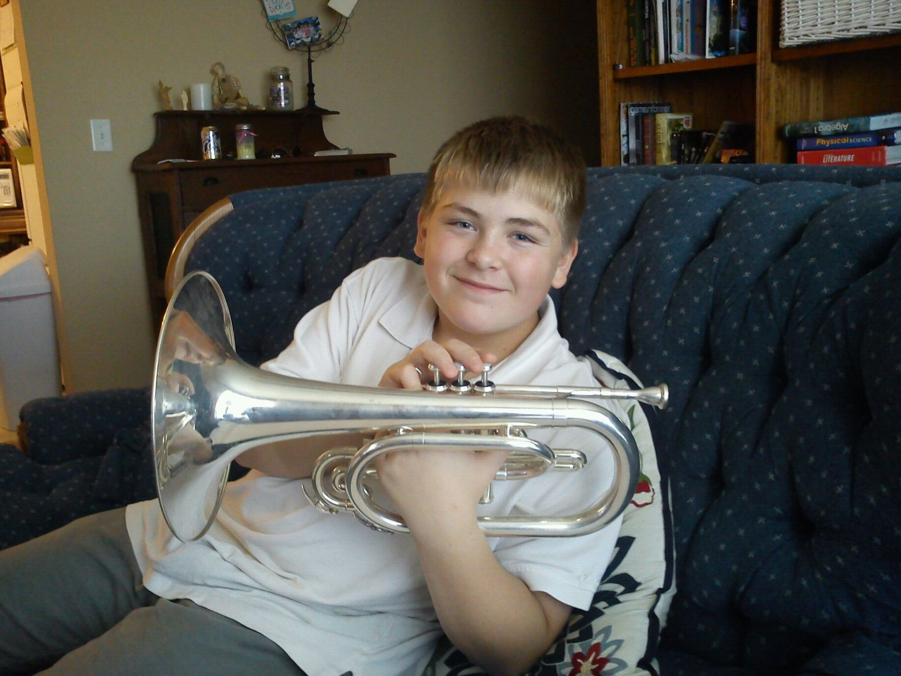 Zavier us having an identity crisis. He srrns to think he is a french horn player.