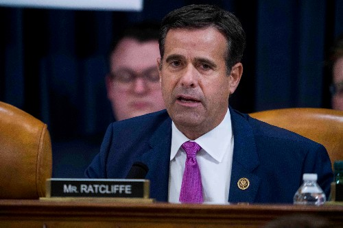 Trump again nominates Congressman Ratcliffe as his intelligence director