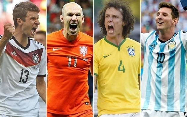 World Cup 2014: In Brazil, Argentina, Germany and Holland this tournament has four great semi-finalists