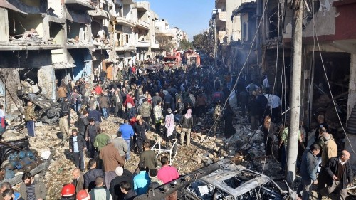 Deadly blasts claimed by ISIL rock Syria's Homs city