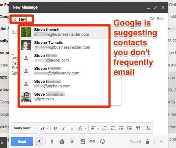 A weird Gmail bug has tons of people sending emails to the wrong contacts
