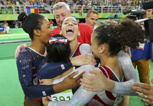 US Women Gymnasts Dominate in Rio: Pictures