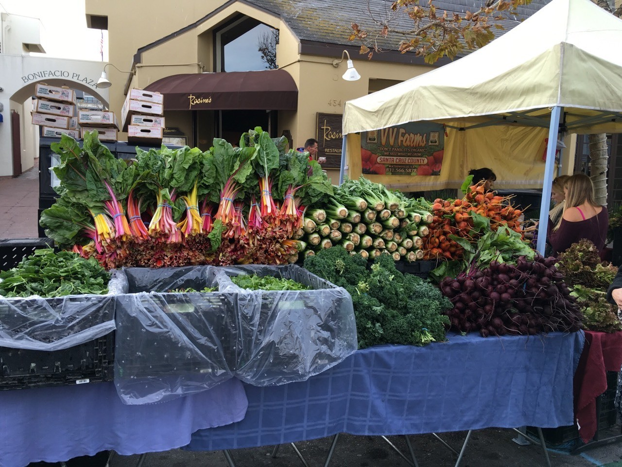Farmers market produce, Monterey, California