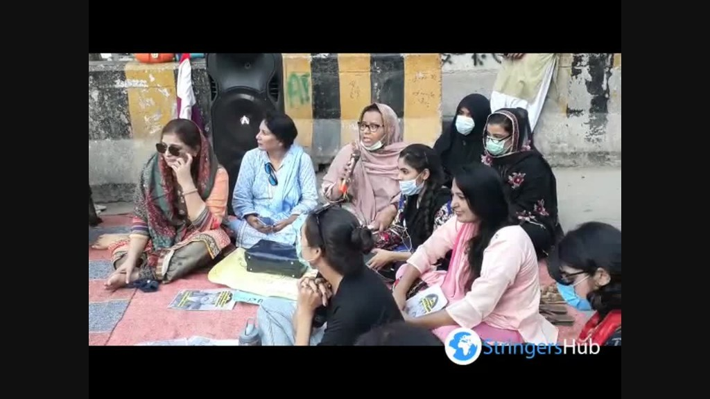 Demonstration of civil socity against women and child rape in Karachi, Pakistan 2