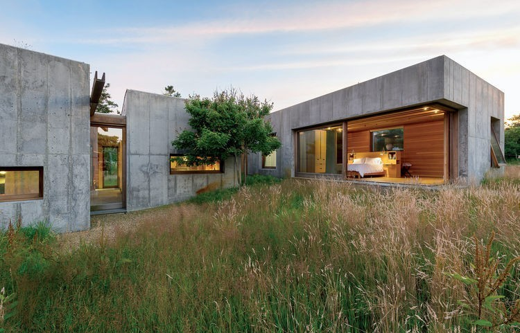 Articles about six concrete boxes make jaw dropping marthas vineyard home on Dwell.com - Dwell