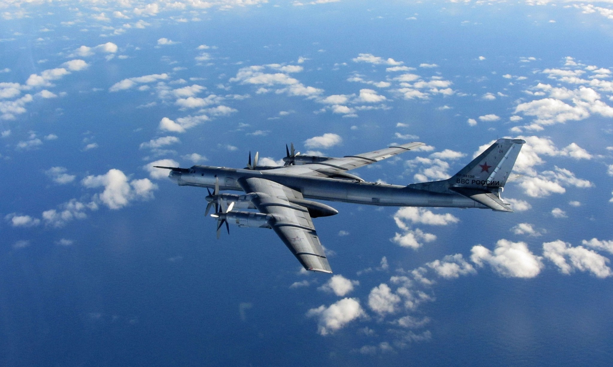 Russian bomber flew inland over Cornwall, witness claims