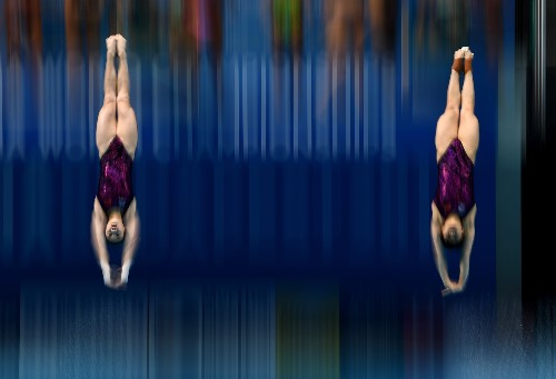World Diving, Synchro Swim Championships in Motion: Pictures