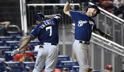 MLB roundup: Brewers outslug Nats in 14 innings