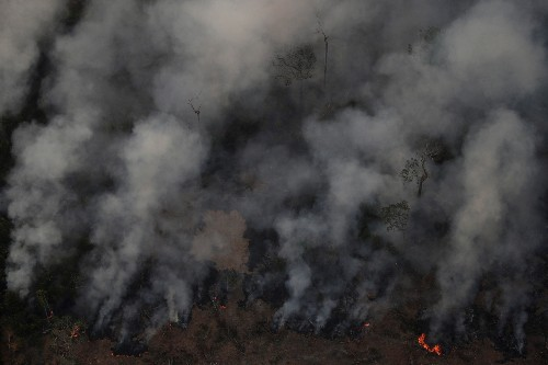 The sky never goes dark while the Amazon burns