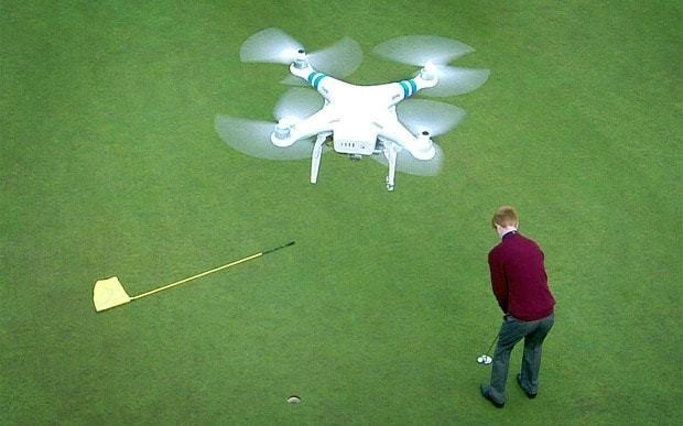 Drone pilots making a living from flying high over the fairways