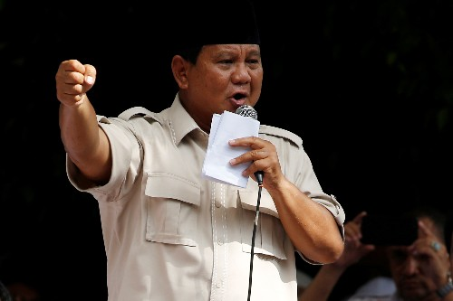 Indonesian presidential candidate Prabowo to challenge poll result in Constitutional Court