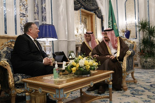 The Latest: Pompeo talks to UAE leader about countering Iran