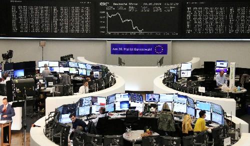 Trade war fears hamper European stocks, weak pound buoys FTSE