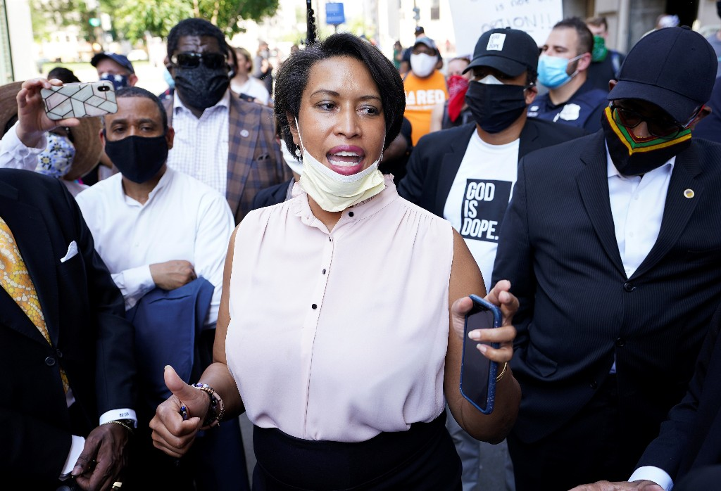 Washington Mayor Bowser, 'unbought and unbossed,' challenges Trump