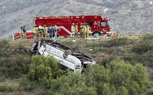Feds to investigate California bus rollover that killed 3