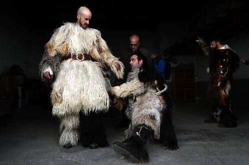 AP PHOTOS: Spanish towns embrace peculiar old festivals