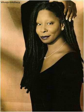 Caryn Elaine Johnson or popularly known as Whoopi Goldberg was born on November 13, 1949 in Manhattan,New York City,New York,U.S. A-- is an American comedian, actress, singer-songwriter, political activist, author and talk show host. Some sources give her birth year as 1955, but according to the African-American Registry (cited below) and others, she was born in 1949. Although Goldberg made her film debut in the avant-gardeensemble filmCitizen: I'm Not Losing My Mind, I'm Giving It Away(1982), herbreakthrough rolewas playing Celie, a mistreated black woman in theDeep Southin theperiod dramafilmThe Color Purple(1985).She played Oda Mae Brown– a wackypsychichelping a slain man (Patrick Swayze) save his lover (Demi Moore)– in theromantic fantasyfilmGhost(1990) for which she won theAcademy Award for Best Supporting Actress. Goldberg was the second black woman in the history of the Academy Awards to win an acting Oscar (the first beingHattie McDanielwho won forGone With the Windin 1939). She was co-producer of the television game showHollywood Squaresfrom 1998 to 2004. She has been the moderator of the daytime television talk showThe Viewsince 2007. Goldberg has been nominated for 13Emmy Awardsfor her work in television. She is one of the few entertainerswho have won an Emmy, Grammy, Oscar, and Tony Award. In the 1990s, Goldberg was rumored to be the highest paid actress for her appearances in film.