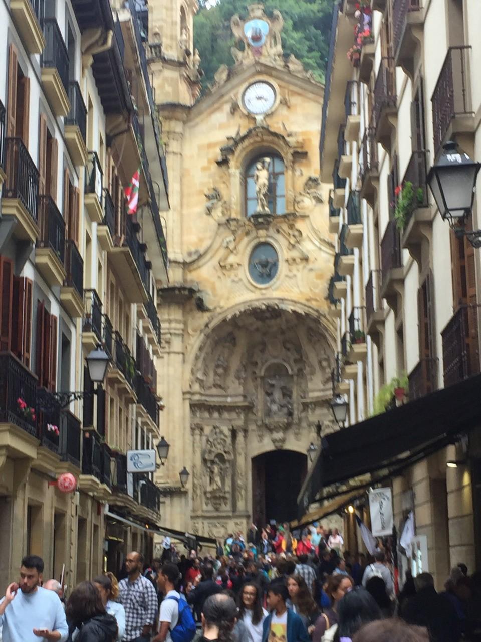 La ballade continue. 8 août à San Sebastian (Espagne)