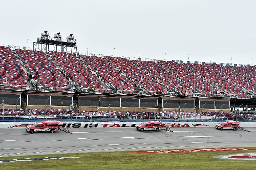 Rain halts Talladega race after Byron wins Stage 1