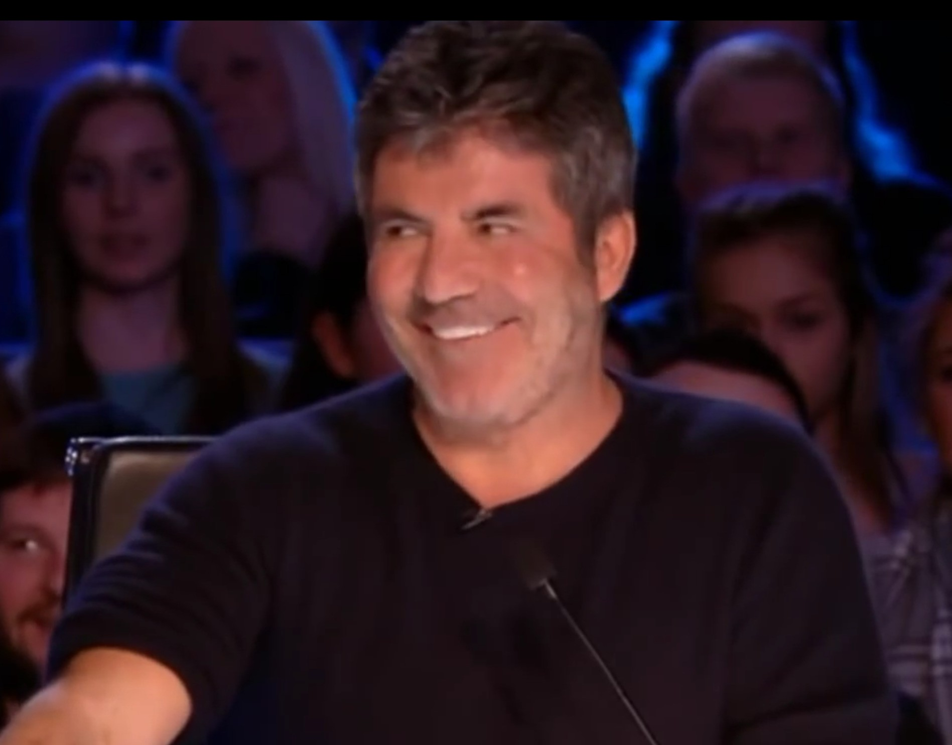 Look! Simon can smile! , 😃