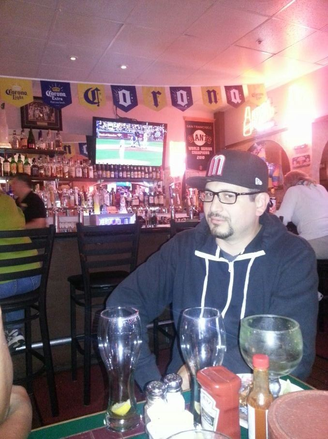 Razo's sad face cause the Giants scores and his team didn't :)