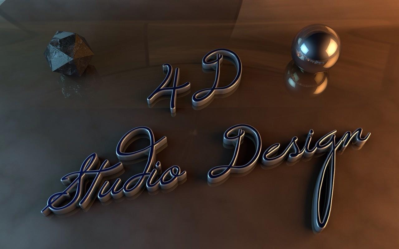 Wallpaper Letras 4D Studio Design