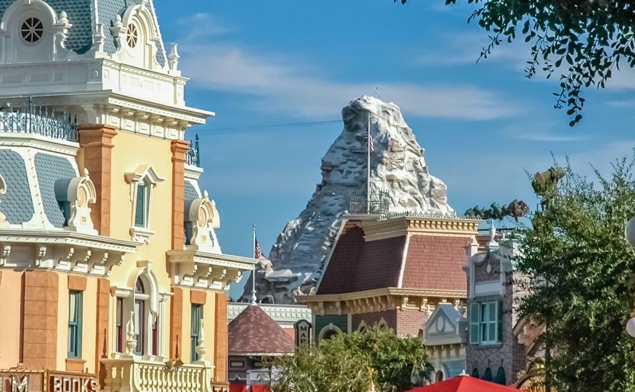 Daily Disneyland: The Matterhorn from Disneyland's Main Street #disney #disneyland #matterhorn