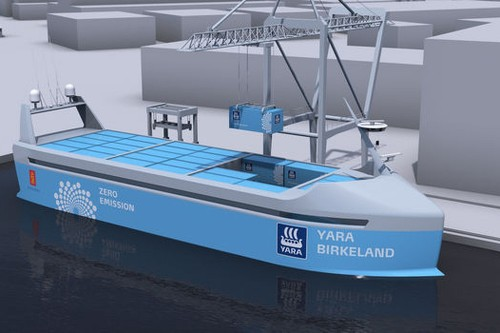 The world's first crewless cargo ship will launch next year