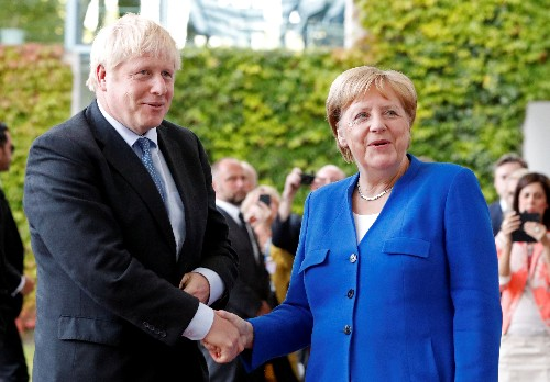 Budge on Brexit, British PM Johnson to tell Merkel in Berlin