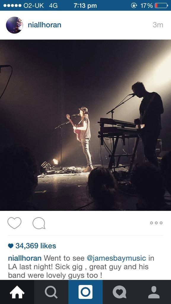 Niall via Instagram