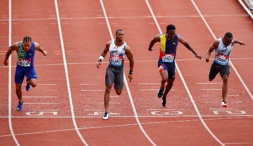 Blake blasts back with 100m Diamond League win, eyes world champs